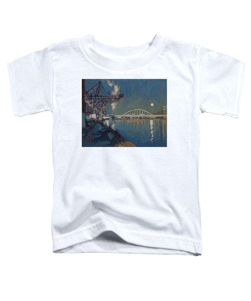 Moon Over The Railway Bridge Maastricht Toddler T-Shirt