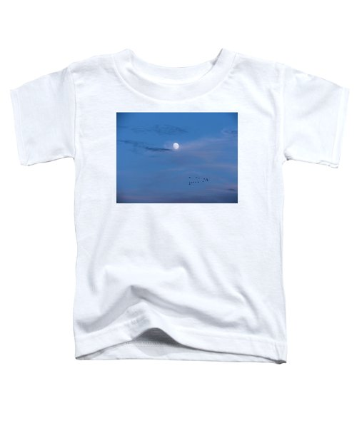 Moon Rises Geese Fly Toddler T-Shirt