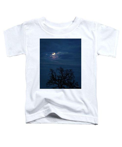 Moonlight Through A Blue Evening Sky Toddler T-Shirt