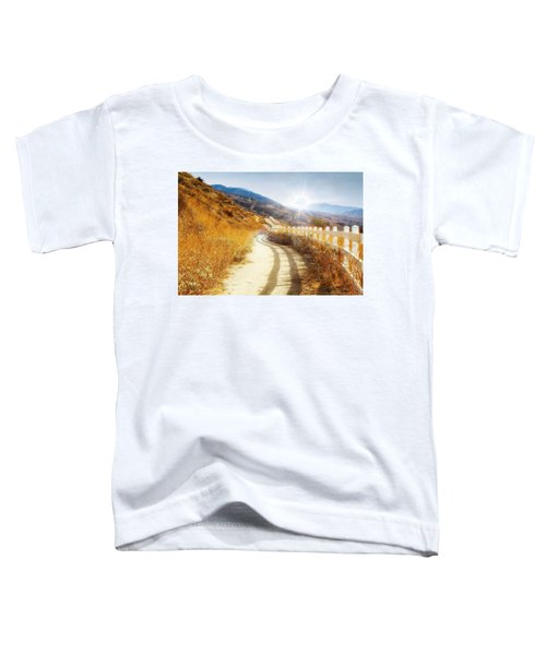 Toddler T-Shirt featuring the photograph Morning Hike by Alison Frank