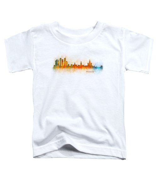 Moscow City Skyline Hq V3 Toddler T-Shirt by HQ Photo