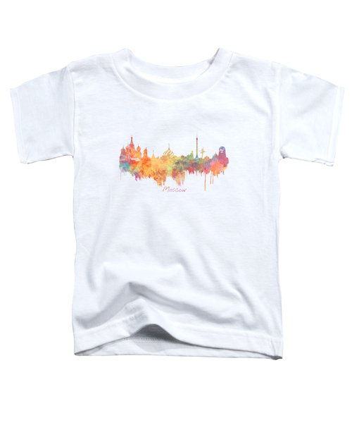 Moscow Russia Skyline City Toddler T-Shirt by Justyna JBJart