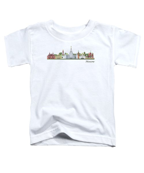 Moscow Skyline Colored Toddler T-Shirt by Pablo Romero
