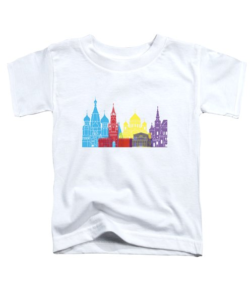 Moscow Skyline Pop Toddler T-Shirt by Pablo Romero