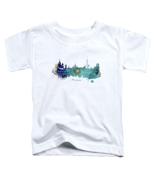 Moscow Skyline Wind Rose Toddler T-Shirt by Justyna JBJart