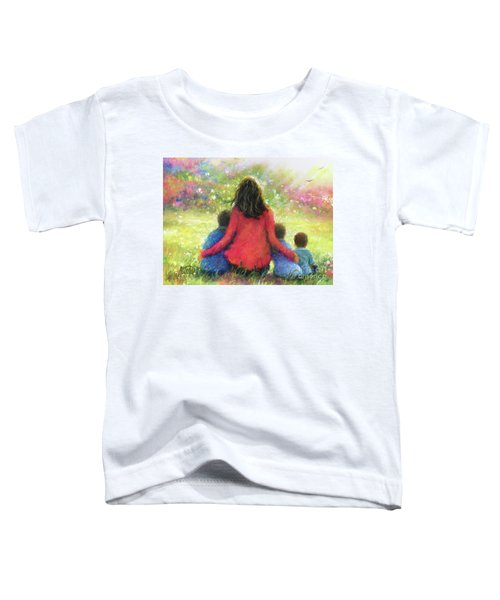 Mother And Three Sons In The Garden Toddler T-Shirt