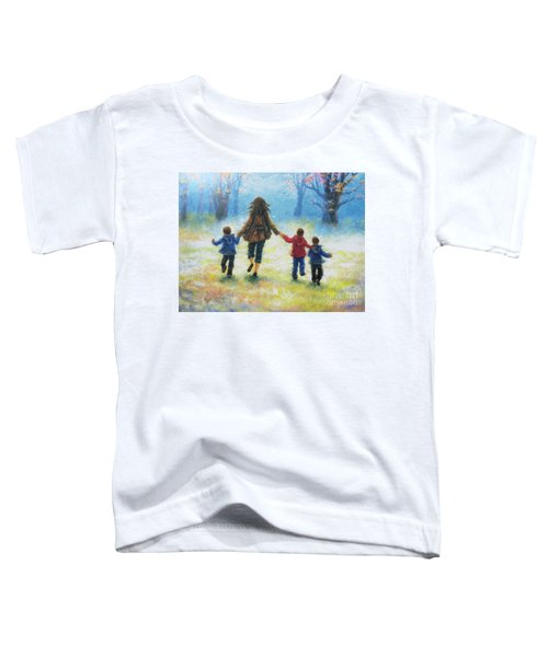 Mother And Three Sons  Toddler T-Shirt