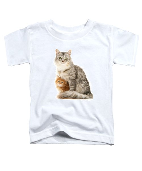 Mother Cat And Ginger Kitten Toddler T-Shirt