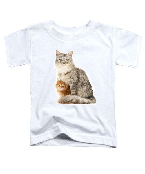 Mother Cat And Ginger Kitten Toddler T-Shirt