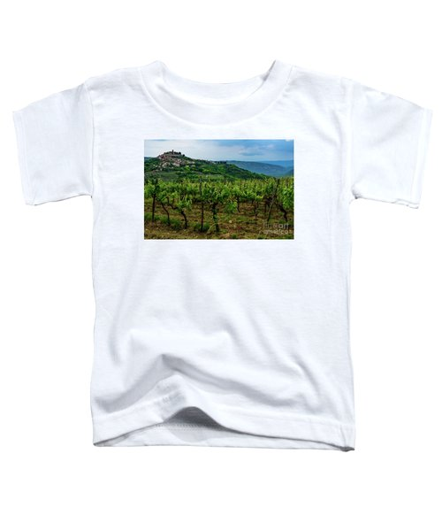 Motovun And Vineyards - Istrian Hill Town, Croatia Toddler T-Shirt