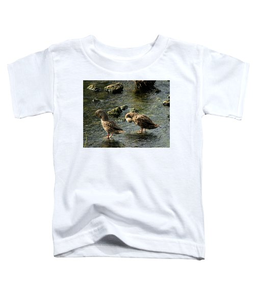 Mottled Duck Bride And Groomer Toddler T-Shirt