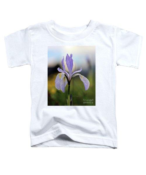 Mountain Iris With Bud Toddler T-Shirt