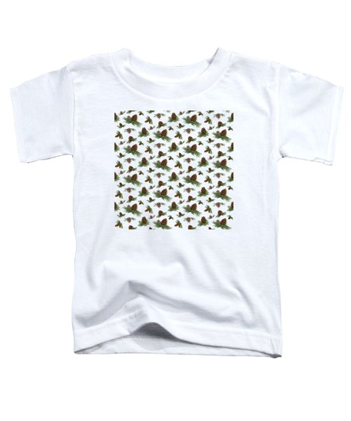 Mountain Lodge Cabin In The Forest - Home Decor Pine Cones Toddler T-Shirt by Audrey Jeanne Roberts