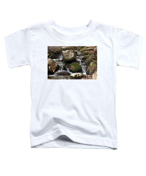 Mountain Stream Through Rocks Toddler T-Shirt