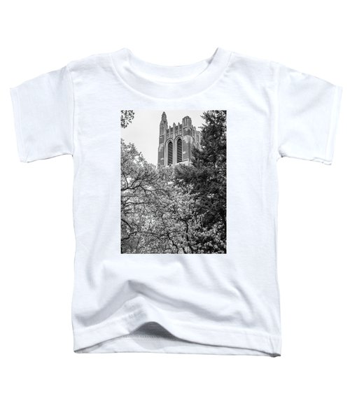 Msu Beaumont Tower Black And White 3 Toddler T-Shirt
