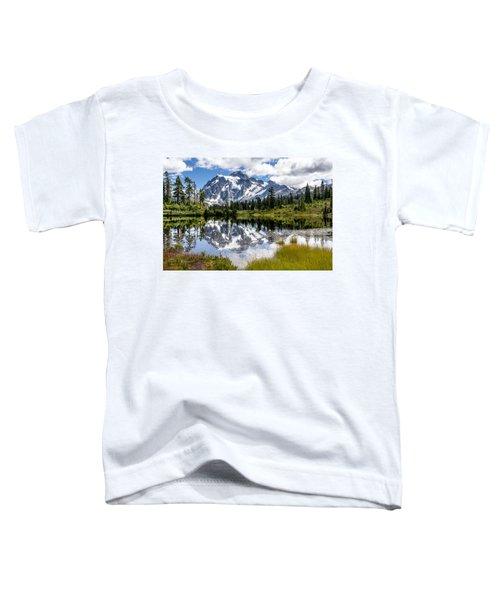 Mt Shuksan On Picture Lake 1 Toddler T-Shirt