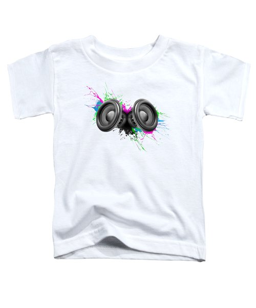 Music Speakers Colorful Design Toddler T-Shirt