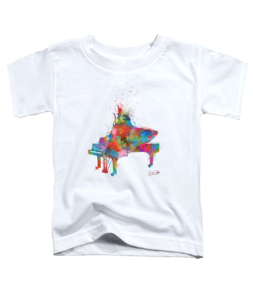 Music Strikes Fire From The Heart Toddler T-Shirt by Nikki Marie Smith