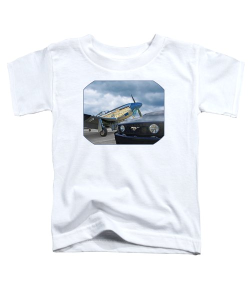 Mustang Gt With P51 Toddler T-Shirt