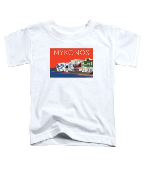Mykonos Little Venice - Orange Toddler T-Shirt