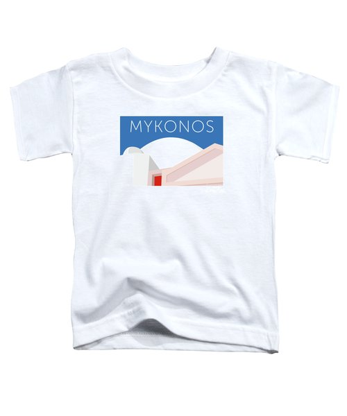 Mykonos Walls - Blue Toddler T-Shirt