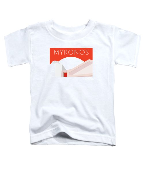 Mykonos Walls - Orange Toddler T-Shirt
