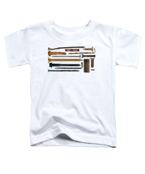 Nails, Hooks, Screws On Transparent Background Toddler T-Shirt