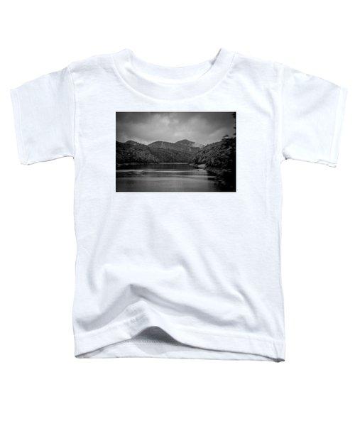 Nantahala River Great Smoky Mountains In Black And White Toddler T-Shirt