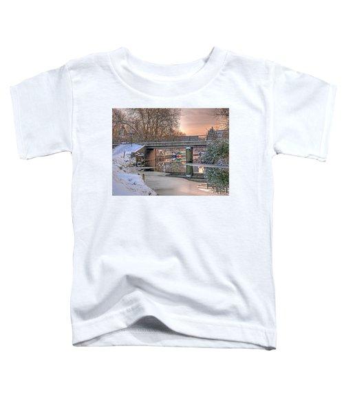 Narrow Boats Under The Bridge Toddler T-Shirt