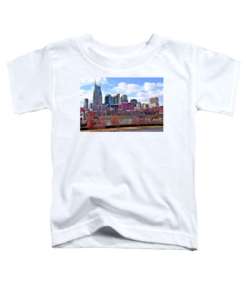 Nashville On The Riverfront Toddler T-Shirt by Frozen in Time Fine Art Photography