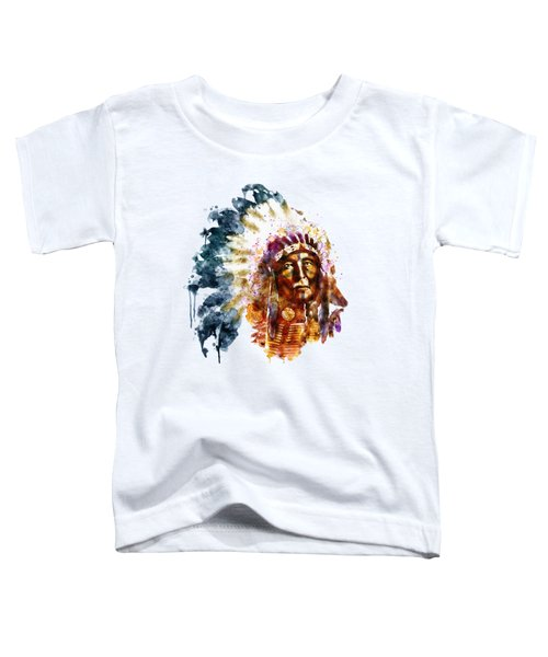 Native American Chief Toddler T-Shirt by Marian Voicu
