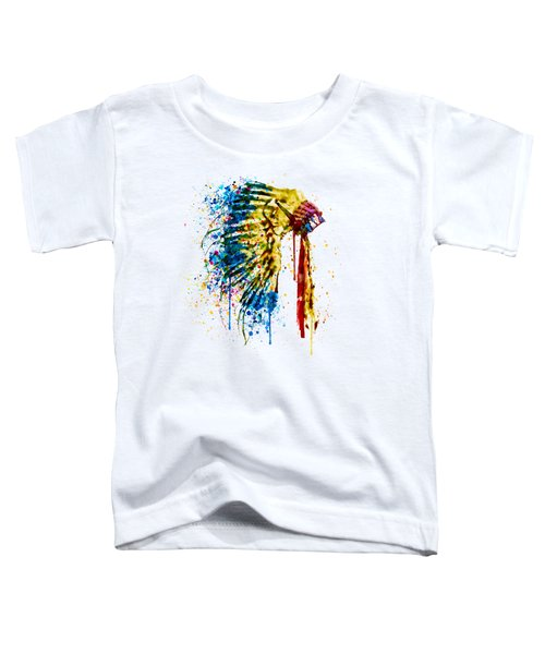 Native American Feather Headdress   Toddler T-Shirt