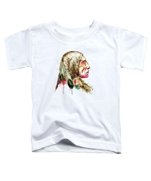 Native American Side Face Toddler T-Shirt