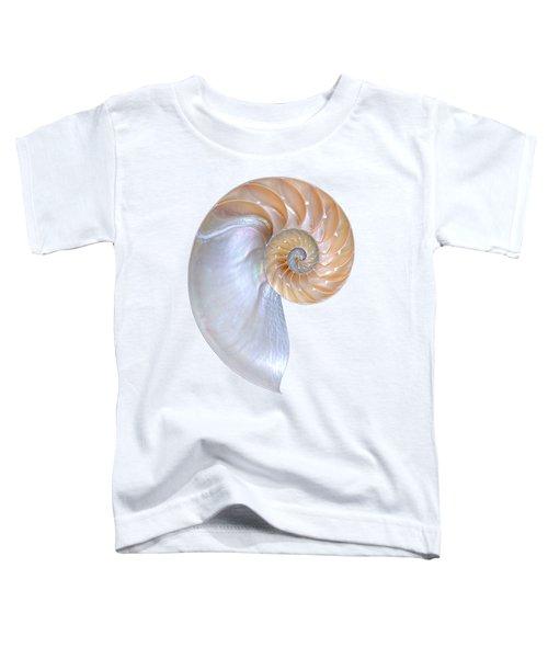 Natural Nautilus On White Vertical Toddler T-Shirt