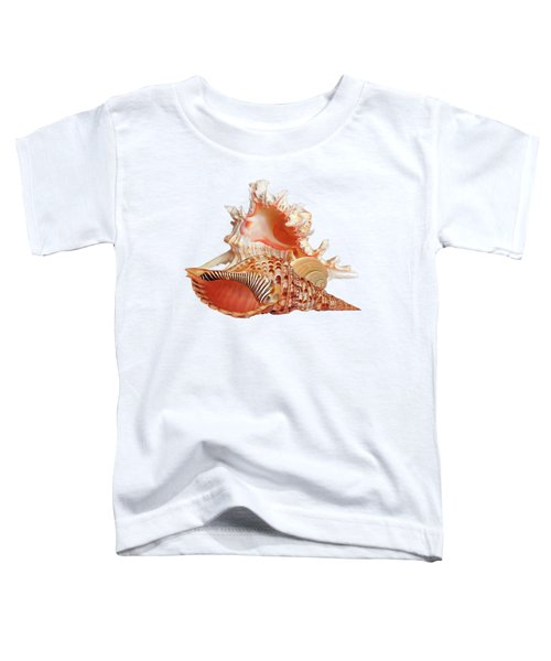Natural Shell Collection On White Toddler T-Shirt