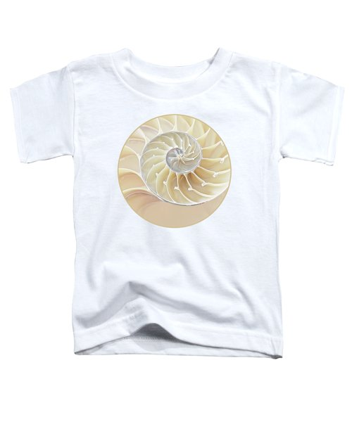 Nautilus Natural Cream Spiral Toddler T-Shirt