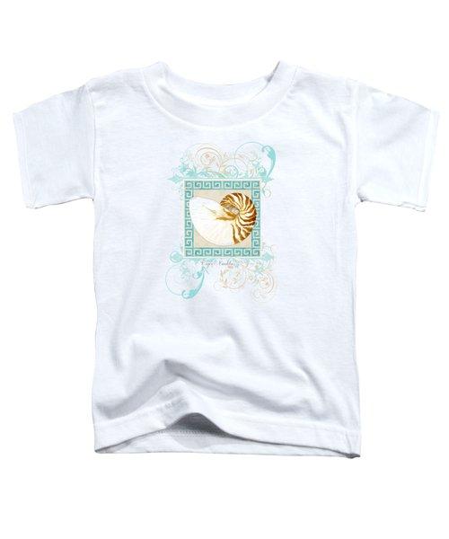 Nautilus Shell Greek Key W Swirl Flourishes Toddler T-Shirt