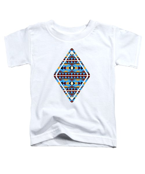 Navajo Blue Pattern Art Toddler T-Shirt
