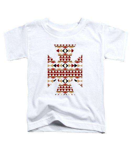 Navajo White Pattern Art Toddler T-Shirt by Christina Rollo