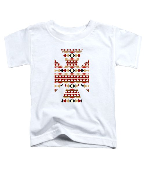 Navajo White Pattern Art Toddler T-Shirt