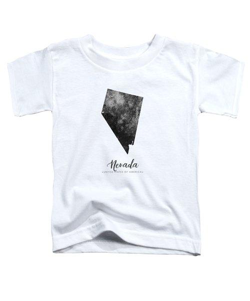 Nevada State Map Art - Grunge Silhouette Toddler T-Shirt