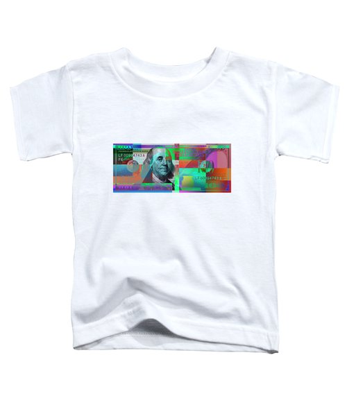 New 2009 Series Pop Art Colorized Us One Hundred Dollar Bill  No. 2 Toddler T-Shirt