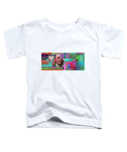 New 2009 Series Pop Art Colorized Us One Hundred Dollar Bill  No. 3 Toddler T-Shirt