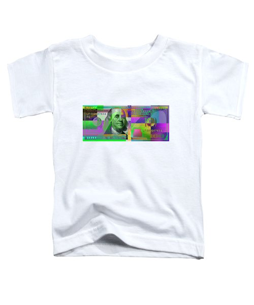 New 2009 Series Pop Art Colorized Us One Hundred Dollar Bill  No. 4 Toddler T-Shirt