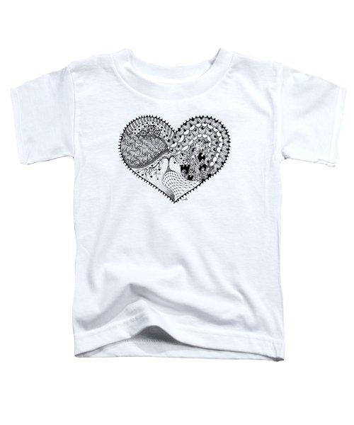 Toddler T-Shirt featuring the drawing New Beginning by Ana V Ramirez