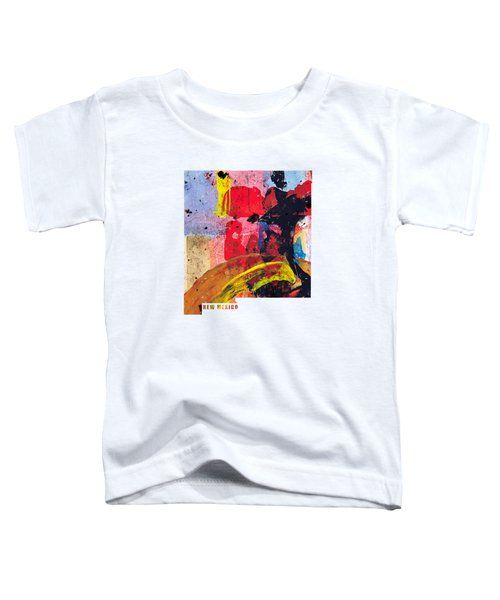 New Mexico Map Art - Painted Map Of New Mexico Toddler T-Shirt