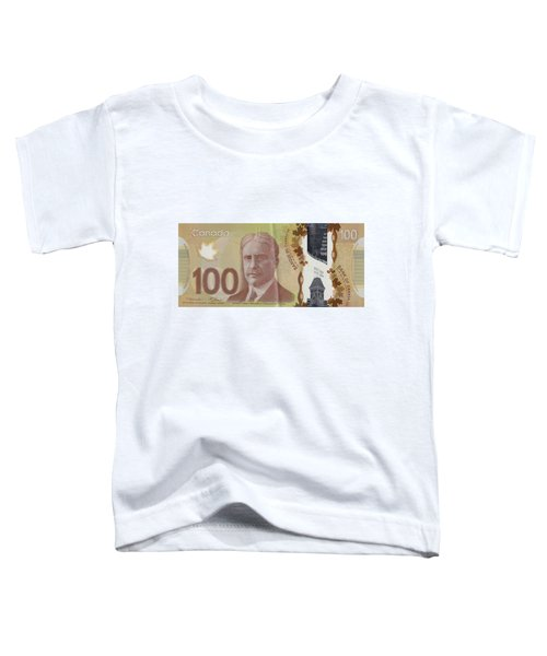 New One Hundred Canadian Dollar Bill Toddler T-Shirt