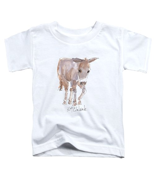 New Pasture Boss Toddler T-Shirt by Kathleen McElwaine
