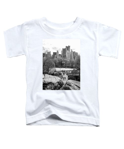 New York City Central Park Ice Skating Toddler T-Shirt