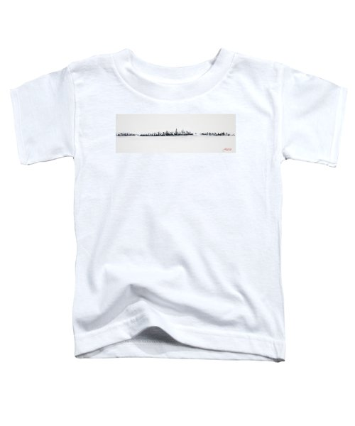New York City Skyline Black And White Toddler T-Shirt